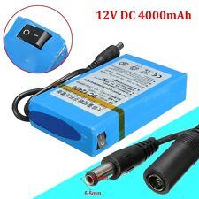 DC 12V 4000mAh Rechargeable Portable Li-ion Battery For CCTV Camera