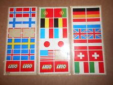 Lego® 3x alte Flaggen/Fahnen Sticker