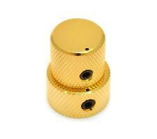 MK-3320-002 (1) Gotoh Mini Stack Knob For Metric Pots 6mm/8mm Bass/Guitar - Gold