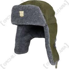 RUSSIAN SOVIET ARMY USHANKA Style Hat - Olive Green - 55CM