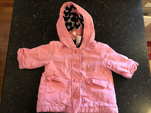 Baby Gap Infant Pink Girls Size 3-6 Months Coat With Hood
