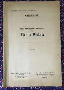 1921 Property particulars, auction of Drake Estate, Cheshire
