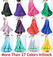 Flamenco Satin Full Circle Belly Dance Skirts Ruffle Tribal Gypsy ATS30 Color