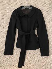 THEORY WOMEN'S BLACK 2PC DRESS PANTSUIT JACKET SZ S/P PANTS 4 SOFT STRETCHY KNIT