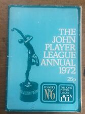 The John Player League Annual 1972 Players No 6 Cricket Competition Illustrated