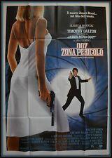 manifesto 4FG JAMES BOND 007  ZONA PERICOLO  TIMOTHY DALTON