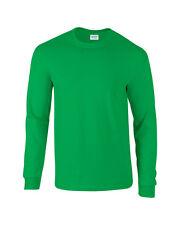 Verde Irlandés Gildan Manga Larga Ultra Algodón t-shirt-mens Suéter S M L XL