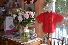chemise  baby  dior magnifiqe 18 mois  rouge *PORT GRATUIT*