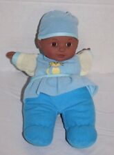 "Citi Toy BABY DOLL CAT 11"" Blue Body 2007 Plush Cloth Hat Dark Skin Brown Eyes"
