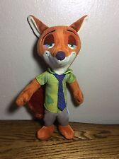 """Disney ZOOTOPIA Nick Wilde 10"""" Plush Stuffed Animal Toy TOMY"""