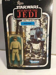 Vintage Kenner Star Wars At-ST Driver Figure Return Of The Jedi On 77 Back Card