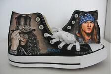 Slash Guns N' Roses Axl Rose custom canvas sneakers/handpaintedshoe/high tops