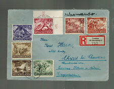 1943 Leuna Germany Arbeitslager Slave Labor Camp Registered Cover to Bohemia