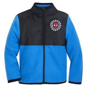 Disney Store Spiderman Boy Fleece Jacket Marvel Blue 7/8 9/10 New