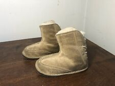 UGG Australia Baby Toddler Sz M 4/5 Chestnut Shearling Boots Leather Soles