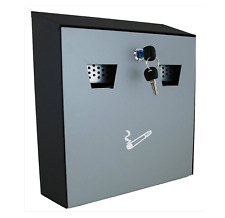 LARGE Wall Mounting Cigarette Disposal Bin Ash Tray Pub Office Hom Steel Outdoor