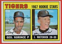 1967 Topps #72 Detroit Tigers Rookies EX-EXMINT+ Korince Matchick RC FREE SHIP