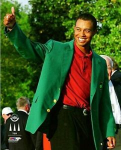"Tiger Woods 2002 Masters Champion Green Jacket Photo (Size: 8"" x 10"")"