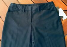SIZE 8 NEW WITH TAGS BASQUE PETITES CHARCOAL PINSTRIPE LADIES DRESS PANTS