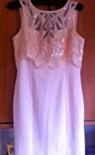 SALE💥BNWT LIPSY DUSTY PINK SEQUIN EMBELLISHED TOP OVERLAY SHIFT DRESS UK 12 £60