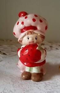 RARE Vintage  Strawberry Shortcake & Cat Porcelain Ornament- NEW, Only 1 on Ebay