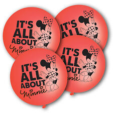 Minnie Mouse Red Latex Punch Balls Balloons Pack of 4
