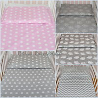 2 pcs Nursery Baby BEDDING SET/PILLOWCASE/DUVET COVER 4 Cot/Cot Bed