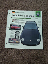 1976-1995 PORSCHE 924 to 968 IMP Brochure TIMELINE Group 9 #3