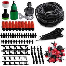 184PCS DIY Micro Drip Irrigation System Garden Plant Self Watering 49FT Hose Kit