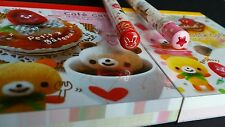 Kamio Kawaii Japan Cafe Cafe Bear 2 Mini Memo Pad 2  Pencil Lot
