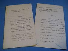 CONSTANTIN LECIGNE 2 x  Autographe Signé 1912 DOYEN FACULTE LILLE DEROULEDE