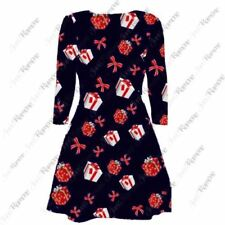 Viscose Dresses Round Neck with Bows