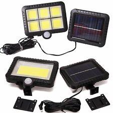 120 LED Waterproof Solar Power PIR Motion Sensor Wall Light Garden Lamp 3 Modes