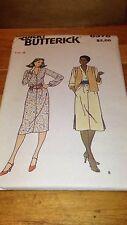 Quick Butterick 6378 Misses Vest & Dress Pattern Size 8 #471