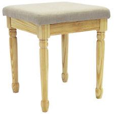 STRAND - Solid Wood Dressing Table Stool - Pine / Grey OCH2002