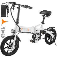 "14"" 250W Folding Electric Bike Ebike Bicycle 36V 25km/h Max Speed 25km Range"