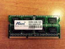 2GB PC3-10600 DDR3-1333Mhz Laptop SoDimm Memory RAM - Asint Brand