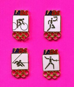 1984 OLYMPIC PIN SMALL WHITE SPORTS PINS LOT #2 PICK A PIN 1-2-3- BUY ALL 4