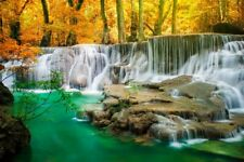 Waterfall Landscape Print Painting Canvas Wall Art Living Room Home Déco Picture