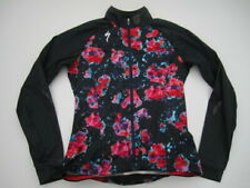 Womens Medium Specialized Therminal floral black full zip cycling jersey