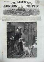 Old Antique Print 1867 Women Food Parcel Fire Cooker Dog Bonavia Fine Art 19th