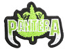 """PANTERA Green Cannabis Leaf Iron On Sew On Embroidered Patch 3""""x2.2"""""""