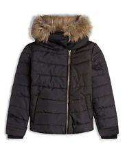Abrigos y chaquetas de niña de 2 a 16 años negro de poliéster