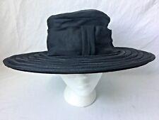 Vintage Linda Original Wide Brim Hat Black Union Made