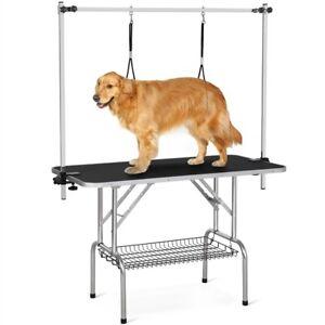 Höhenverstellbar Trimmtisch für Hunde groß Schertisch Hundepflegetisch klappbar