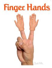 2 Pack FINGER HANDS Light Skin Tone Finger Puppets Gag Gift Favors Archie McPhee