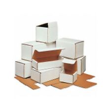 Box Packaging 8 Inch White Corrugated Mailer 50bundle