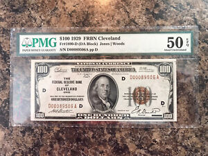 1929 100 federal reserve note