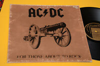 AC DC LP FOR THOSE ABOUT TO ROCK 1°STAMPA ORIG ITALY 1981 GATEFOLD COVER