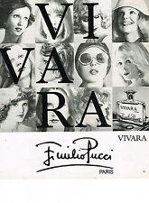 PUBLICITE  1976   EMILIO PUCCI  parfums VIVARA